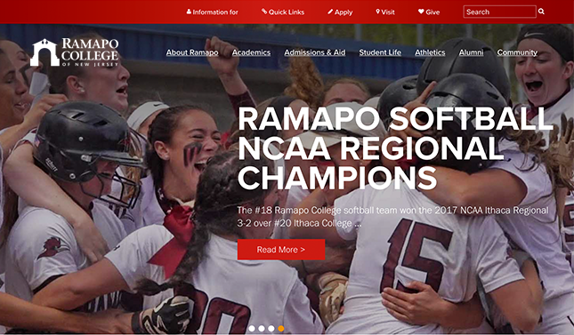 Information Architecture and Website Design for Ramapo